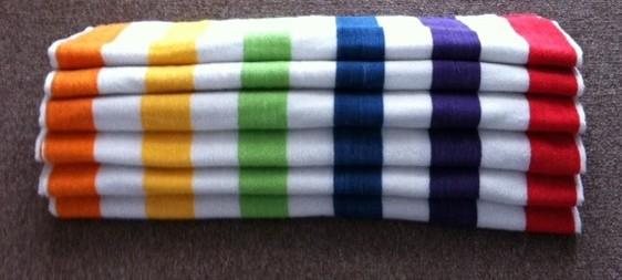 Multi Stripe Size 30 X 60 B 6021 8 Beach Towels Galore