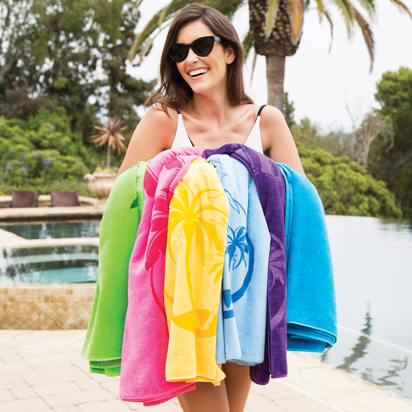Premium Velour Beach Towel BV1103