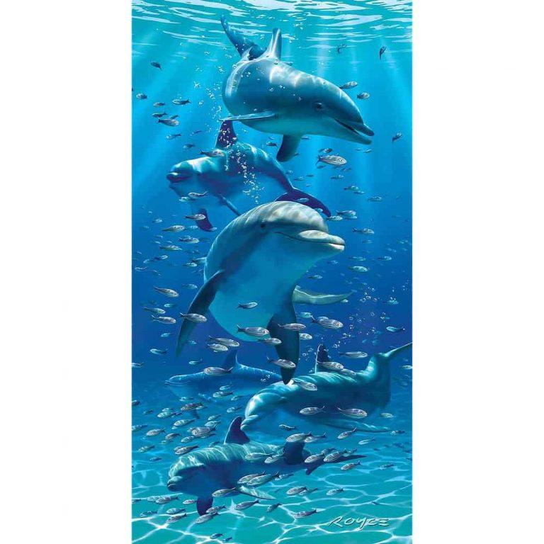 Tropical Beach Towel - Dolphin