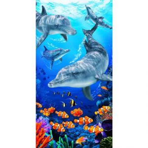 Tropical Beach Towel - Dolphin