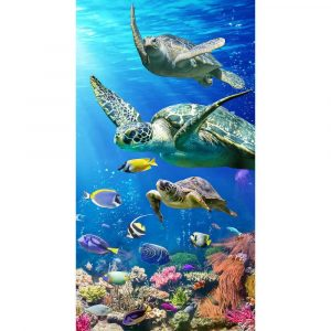 Tropical Beach Towel - Turtles